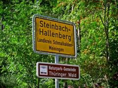 Ortsschild Steinbach Hallenberg
