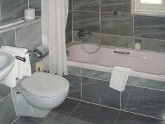 Badezimmer im Hotel Haselgrund, Steinbach-Hallenberg
